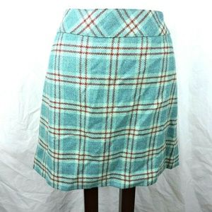 Context Skirt Size 10P Petite Wool Plaid Lined